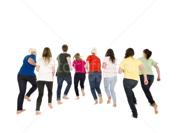 Colorfull people running Stock photo © gemenacom