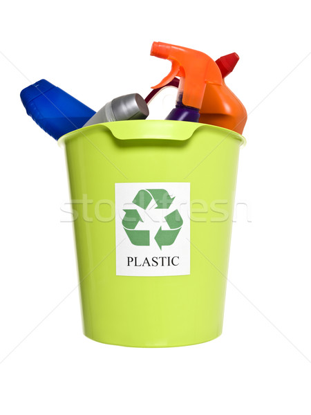 Recycling bin with plastic products Stock photo © gemenacom