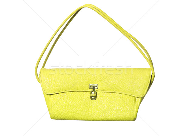 Jaune bourse isolé blanche mode sac Photo stock © gemenacom