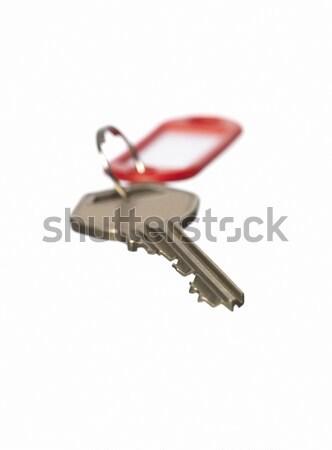 Kulcs zár fehér fehér háttér csendélet Stock fotó © gemenacom