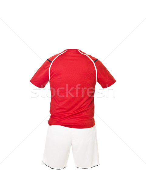 Red football shirt with white shorts Stock photo © gemenacom