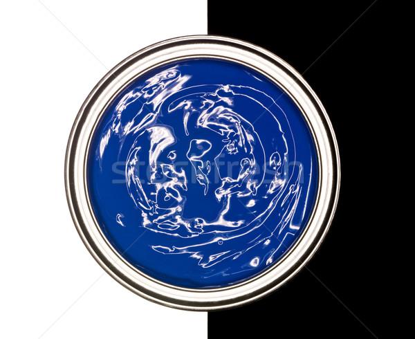 Kék festékes flakon feketefehér terv festék fekete Stock fotó © gemenacom