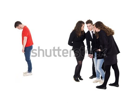 Young man rejected from the group Stock photo © gemenacom