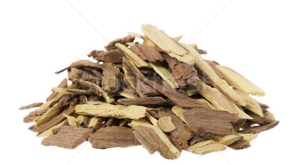 Lenha isolado branco fogo madeira Foto stock © gemenacom