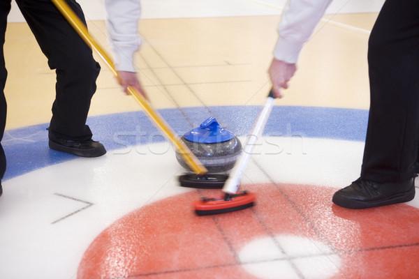 Foto stock: Situação · esportes · gelo · inverno · azul
