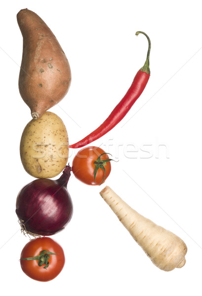 The letter 'K' made out of vegetables Stock photo © gemenacom