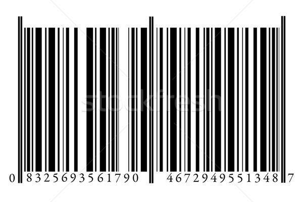 Código de barras isolado branco tecnologia preto mercado Foto stock © gemenacom