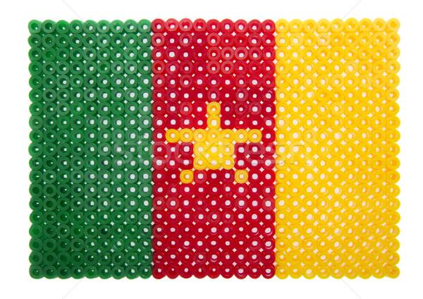 Камерун флаг пластиковых жемчуга знак зеленый Сток-фото © gemenacom