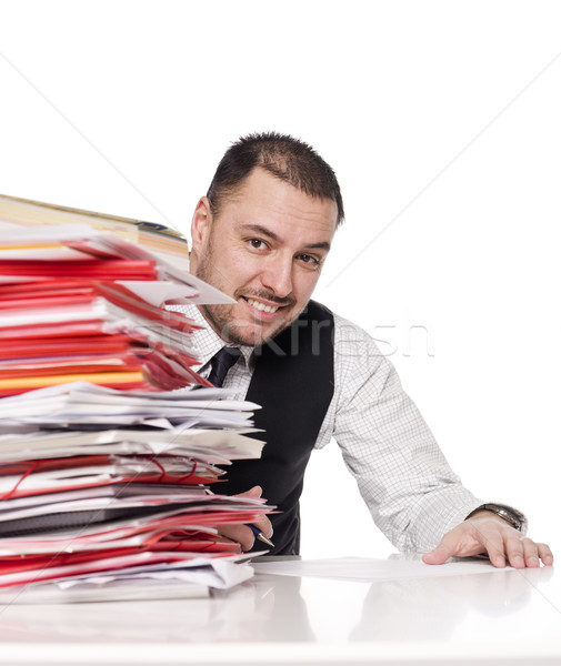 Man behind a office desk Stock photo © gemenacom