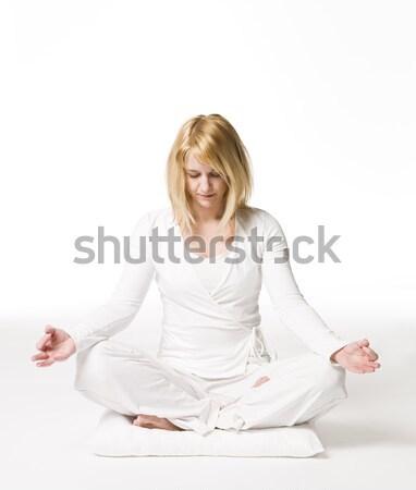 Woman meditating Stock photo © gemenacom