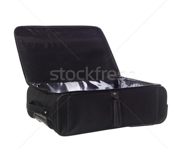 Kinyitott bőrönd izolált fehér utazás táska Stock fotó © gemenacom