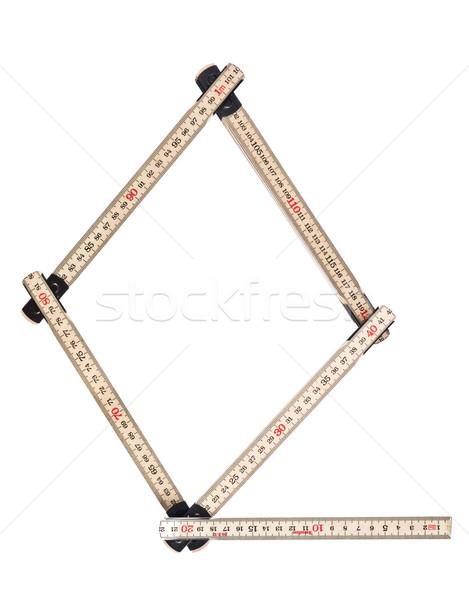 буква q древесины студию инструментом правителя символ Сток-фото © gemenacom