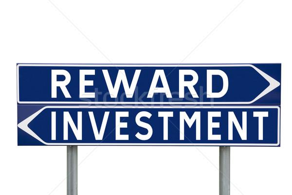 Premiare investimento blu direzione segni scelta Foto d'archivio © gemenacom