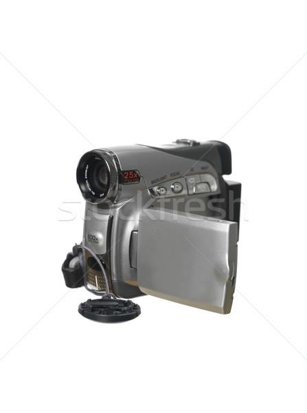цифровой видеокамерой белый запись документа современных Сток-фото © gemenacom