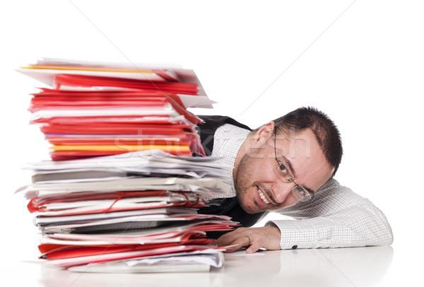 Man behind a office desk Stock photo © gemenacom