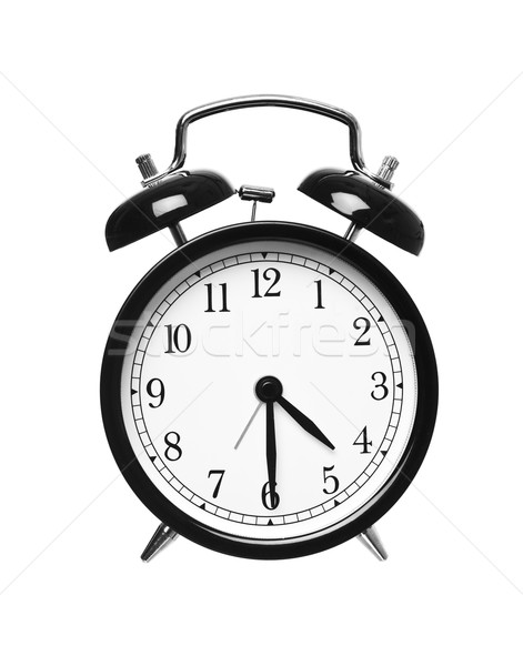 Metade passado quatro despertador isolado branco Foto stock © gemenacom