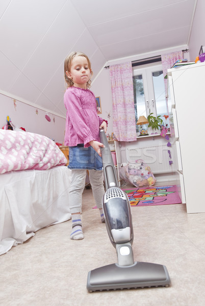 пылесос комнату ребенка очистки играет Сток-фото © gemenacom