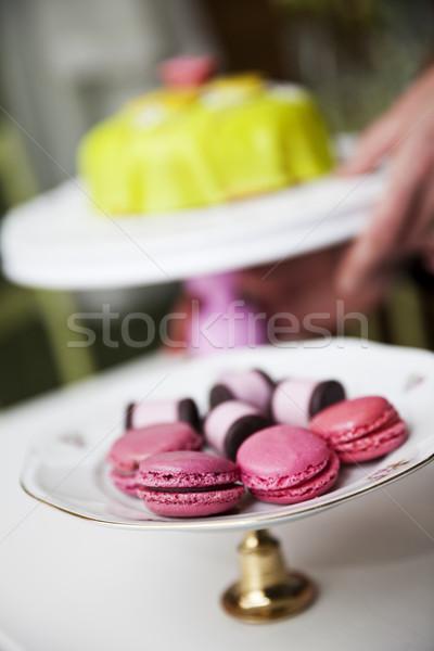 Sütik csoport desszert süti gurmé régimódi Stock fotó © gemenacom