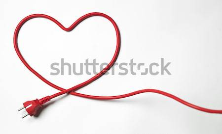 Red Power Cable Stock photo © gemenacom