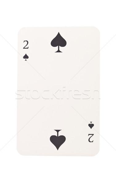 Twee spades geïsoleerd witte zwarte succes Stockfoto © gemenacom