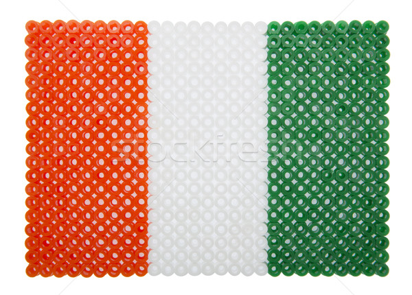 Zászló Elefántcsontpart part műanyag gyöngyök narancs Stock fotó © gemenacom