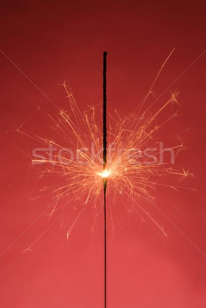 бенгальский огонь сжигание красный пламени праздник карнавальных Сток-фото © gemenacom