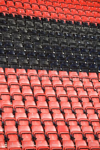 Stock fotó: Néhány · aréna · szék · fekete · minta · esemény
