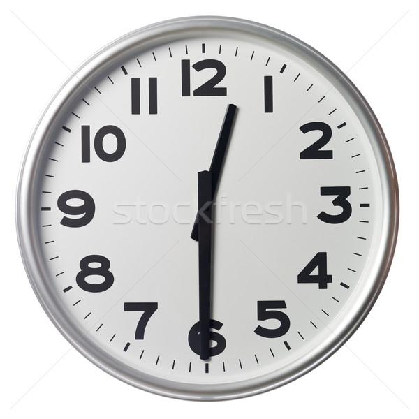 Metade passado doze relógio preto branco Foto stock © gemenacom