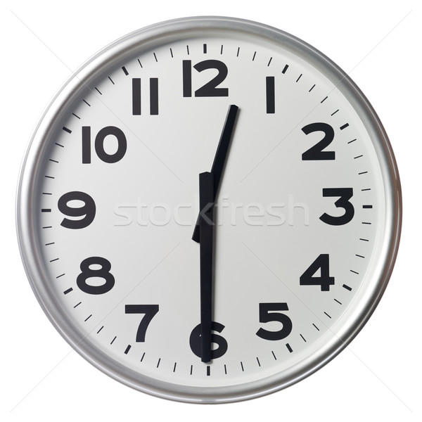 Mitad pasado doce reloj negro blanco Foto stock © gemenacom
