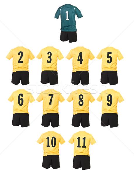 Yellow Football team shirts Stock photo © gemenacom
