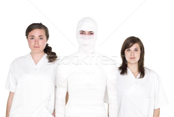 Сток-фото: пациент · человек · два · женщины · врач