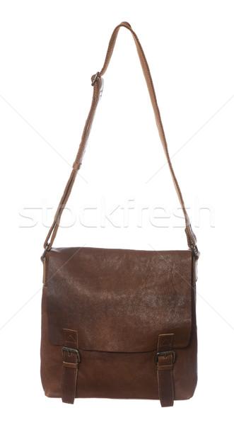 ブラウン 財布 孤立した 白 女性 ファッション ストックフォト © gemenacom