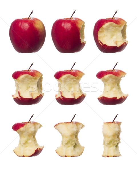 Rouge pommes blanche pomme fruits Photo stock © gemenacom