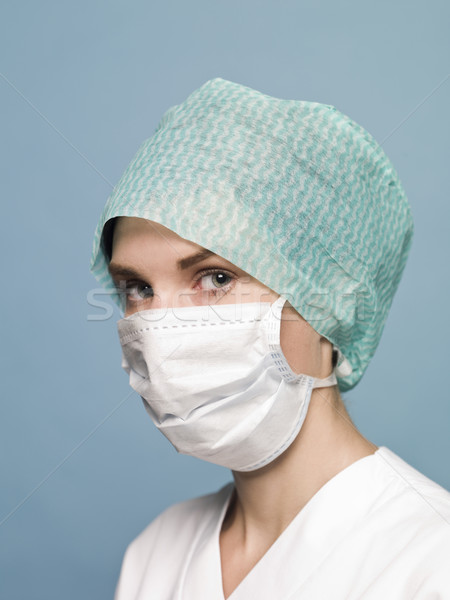 Infirmière masque chirurgical médecin femmes science stéthoscope Photo stock © gemenacom