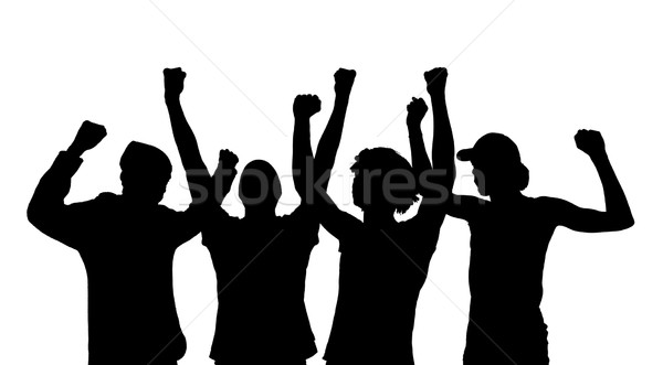 Silhouette of cheering people  Stock photo © gemenacom