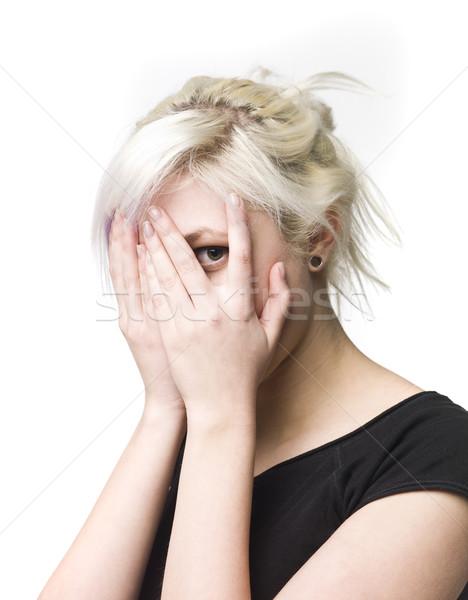 Woman peeping Stock photo © gemenacom