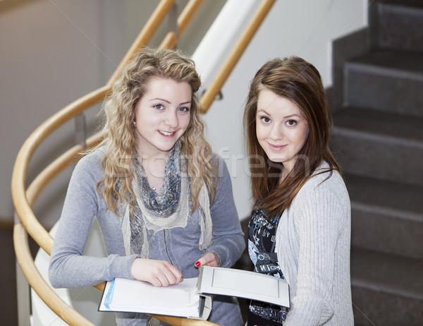 two girls studying Stock photo © gemenacom