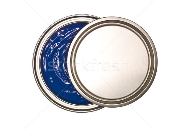 Blue Paint can Stock photo © gemenacom