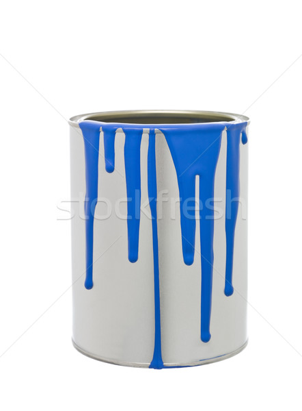 Paint Can with Blue spill Stock photo © gemenacom