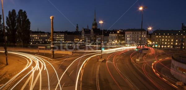 Stadsgezicht uit Stockholm Zweden business licht Stockfoto © gemenacom