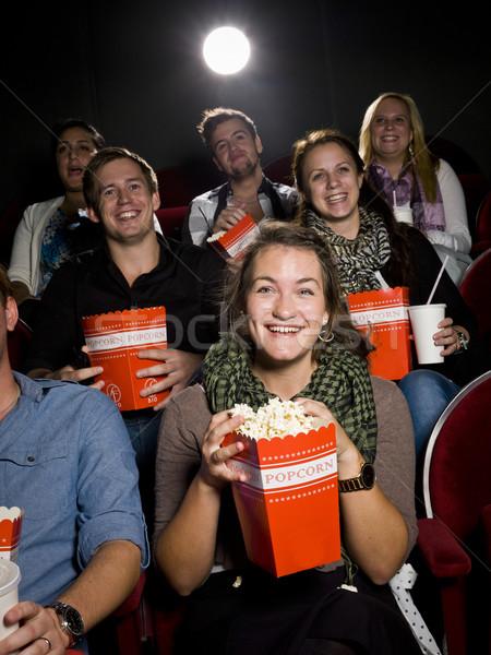 Jedzenie popcorn kina film teatr film Zdjęcia stock © gemenacom