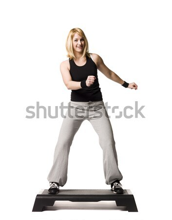 Girl working out Stock photo © gemenacom