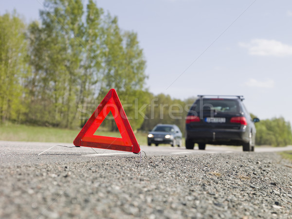 Warning triangle in front of a car breakdown Stock photo © gemenacom
