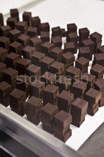 Stacks of chocolate Stock photo © gemenacom