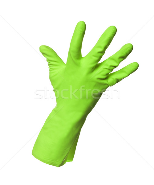 Green protection glove isolated on white background Stock photo © gemenacom