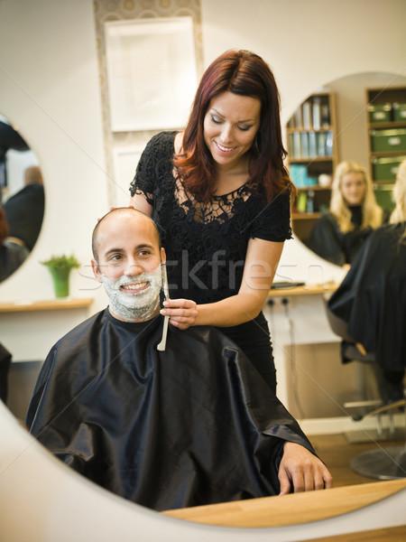Stock photo: Shaving situation