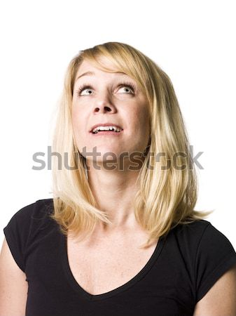Stock photo: Portrait of a woman looking upwards