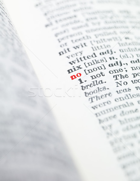Mot pas dictionnaire papier livre rouge Photo stock © gemenacom