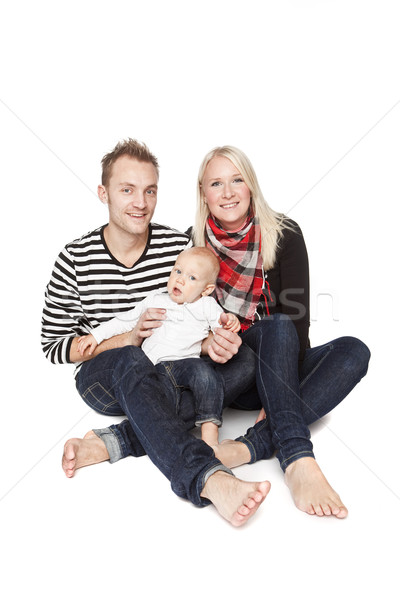 Stock photo: Happy family portrait