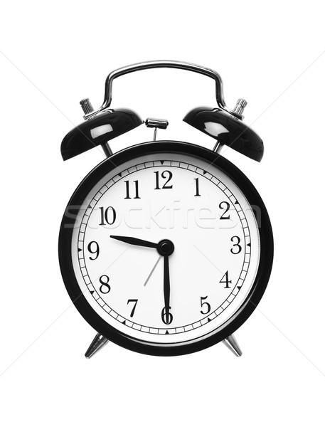 Metà passato nove sveglia isolato bianco Foto d'archivio © gemenacom
